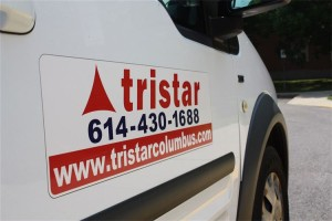 tristar sign on van